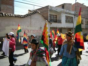 Campesinas on the streets of Sucre