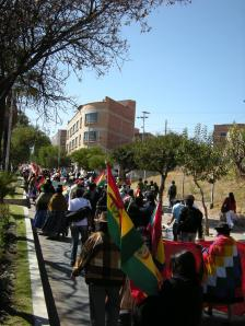Indigenous, Feminist and Campesina Women March through Sucre
