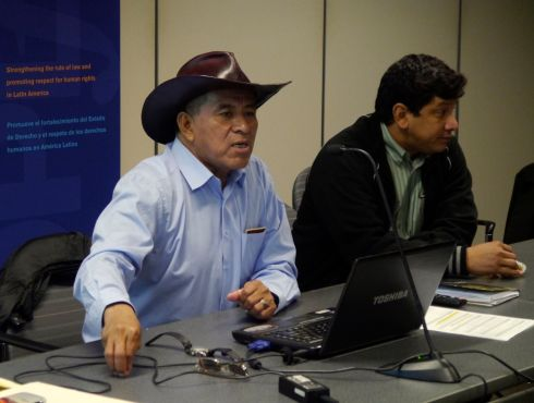 Fernando Vargas and Adolfo Chávez speak in Washington, DC