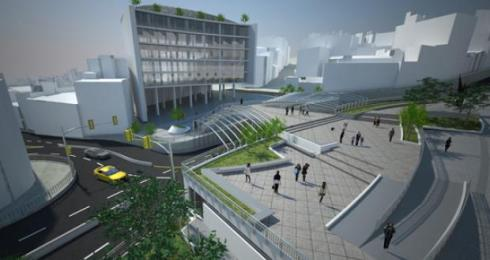 Architectural rendering of renovated Garita de Lima, La Paz, Bolivia
