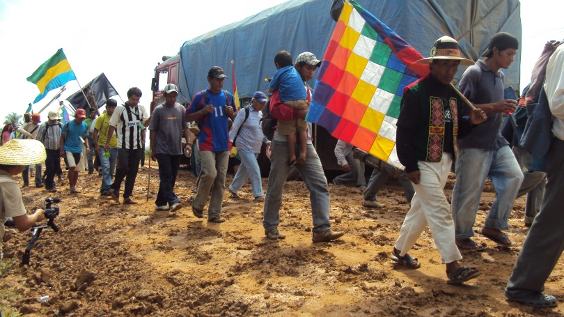 Bolivia´s indigenous movements march in defense of TIPNIS, 2011 (credit: Communications Commission of the march)