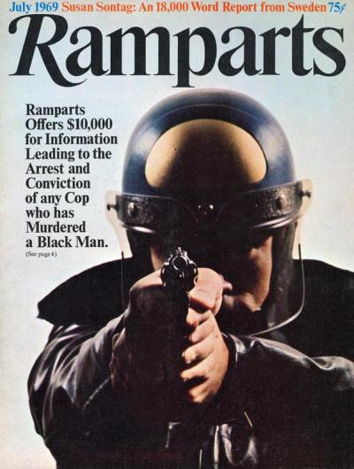 Ramparts Magazine offers a reward for convicting a police officer for murdering a Black man