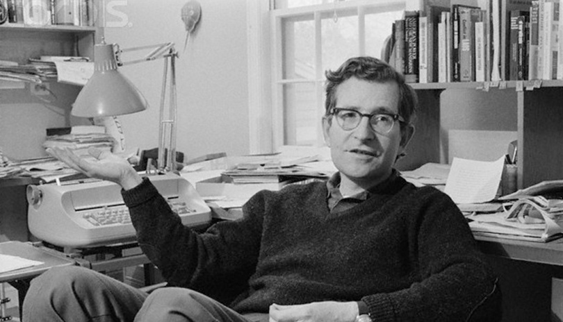 Noam Chomsky in his office, 1967